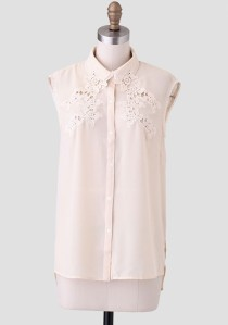 Lace Collar Blose