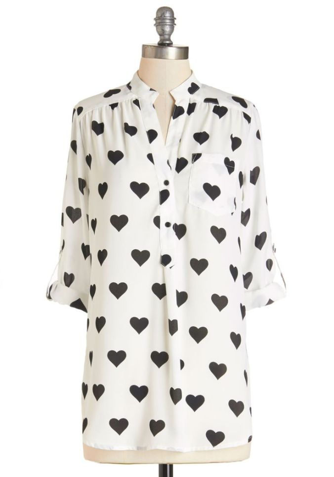 heartprintblouse